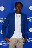 "Duramaney Kamara<br /> at the ""Yardie"" premiere as part of the Sundance London Festival 2018, Picturehouse Central, London<br /> <br /> ©Ash Knotek  D3404  01/06/2018"