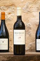 Mas Nicot. Mas de Perry, Mas Nicot. Terrasses de Larzac. Languedoc. France. Europe. Bottle.