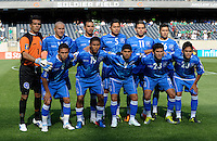 The El Salvador starting XI.  El Salvador defeated Cuba 6-1 at the 2011 CONCACAF Gold Cup at Soldier Field in Chicago, IL on June 12, 2011.