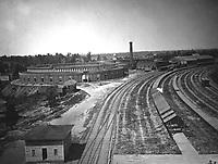 Roundhouse, Chattanooga Railroad, Atlanta.  1864.  George N. Barnard.  (War Dept.)<br /> Exact Date Shot Unknown<br /> NARA FILE #:  165-C-714<br /> WAR & CONFLICT BOOK #:  210