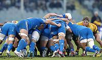Firenze 24/11/2012 .Rugby test match Stadio Franchi Italia vs Australia .Nella foto Sergio Parisse spinge la mischia azzurra.Photo Matteo Ciambelli / Insidefoto