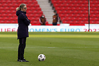 13th April 2021; Bet365 Stadium, Stoke, England; Hege Riise England Manager during the womens International Friendly match between England and Canada