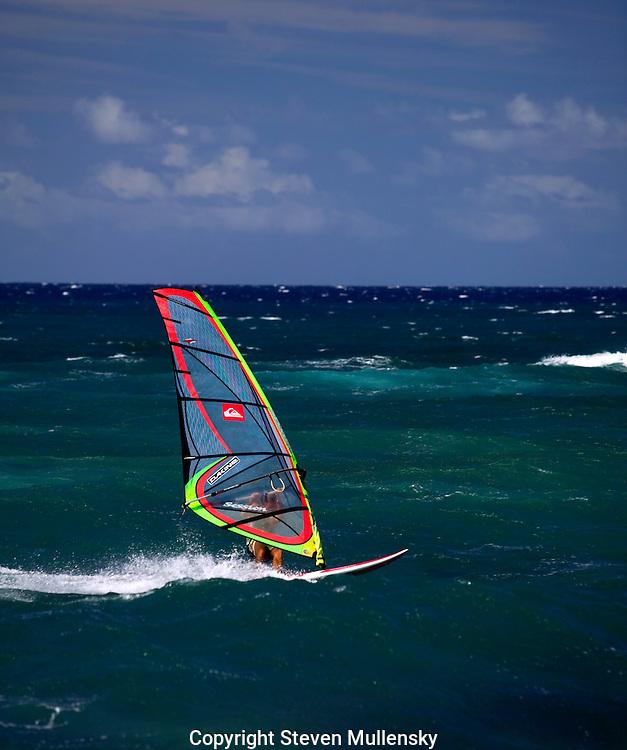Windsurfing off Maui, Hawaii