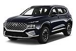 2021 Hyundai Santa-FE Shine 5 Door SUV Angular Front automotive stock photos of front three quarter view