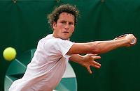 18-08-10, Tennis, Amstelveen, NTK, Nationale Tennis Kampioenschappen, Titelverdediger Jasper Smit in de eerste ronde