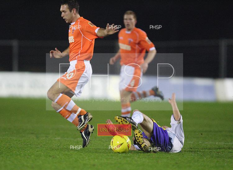 5344 Taylor fouled.Blackpool v Torquay