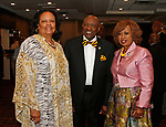 Waterbury, CT 061519MK03(from left) Janis Curtis, Pastor Clinton and Carolyn Brantley gathered with the Zion Baptist Church to bid farewell to the Rev. Calbert Brantley and family at the Courtyard by Marriott Saturday evening.   Michael Kabelka / Republican-American