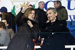 CD Leganes' President Victoria Pavon Palomo (l) and Celta de Vigo's President Carlos Mourino Atanes during La Liga match. January 28,2017. (ALTERPHOTOS/Acero)