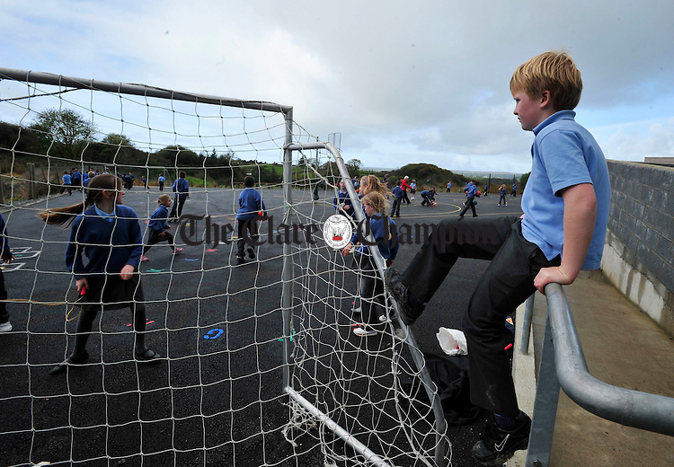 Ronan O' Connell sits out P.E class.