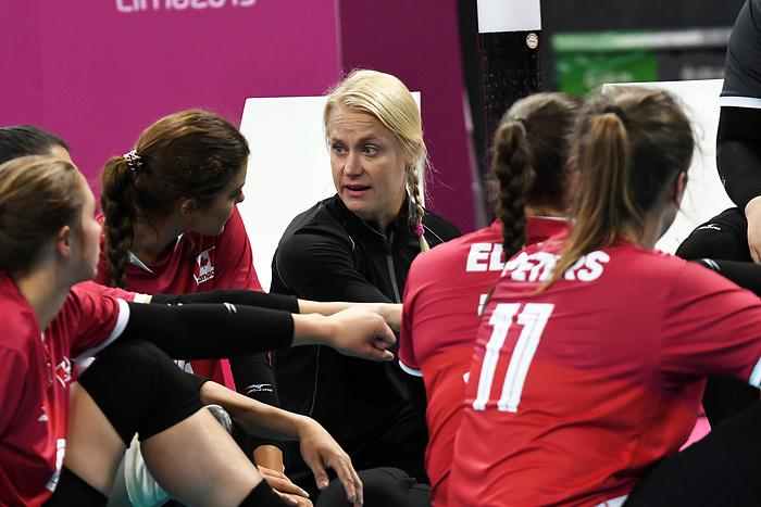 Lima 2019 - Sitting Volleyball // Volleyball assis.<br /> Canada competes in women's Sitting Volleyball // Canada participe au volleyball assis féminin. 26/08/2019.