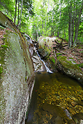 Cascade on a tributary of Lost River in Kinsman Notch in North Woodstock, New Hampshire during the spring months.