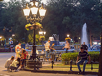 Brunnen vor Rathaus, Subotica, Vojvodina, Serbien, Europa<br /> Fountain at City Hall, Monument at Trg Slobode, Subotica, Vojvodina, Serbia, Europe