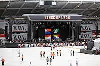 Pictured: The empty stadium before the gig. Wednesday 02 July 2014<br />