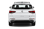 Straight rear view of 2020 Seat Ateca FR 5 Door SUV Rear View  stock images