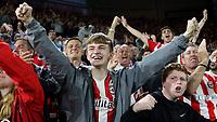 Brentford fans celebrate their second goal scored by Vitaly Janelt during Brentford vs Liverpool, Premier League Football at the Brentford Community Stadium on 25th September 2021
