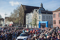 Massive crowds at the Race start in Maastricht. <br /> <br /> 53th Amstel Gold Race (1.UWT)<br /> 1 Day Race: Maastricht > Berg en Terblijt (263km)