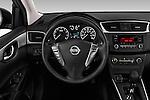 Car pictures of steering wheel view of a 2017 Nissan Sentra S 4 Door Sedan Steering Wheel