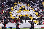 Fans of United Arab Emirates cheer prior to the AFC Asian Cup UAE 2019 Semi Finals match between Qatar (QAT) and United Arab Emirates (UAE) at Mohammed Bin Zaied Stadium  on 02 January 2014 in Abu Dhabi, United Arab Emirates. Photo by Marcio Rodrigo Machado / Power Sport Images