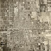 historical aerial photograph Ontario, San Bernadino county, California, 1946
