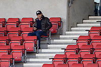 4th June 2021; AJ Bell Stadium, Salford, Lancashire, England; English Premiership Rugby, Sale Sharks versus Harlequins; England's Head Coach Eddie Jones spotted in the stands watching the game