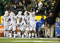 October 6th, 2011: Gabe King of California celebrates after Cal's touchdown during a game against Oregon Ducks at Autzen Stadium in Eugene, Oregon