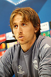 Real Madrid's Luka Modric in press conference before UEFA Champions League match. February 14,2017.(ALTERPHOTOS/Acero)