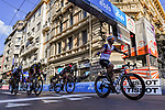 Jasper Stuyven (BEL) Trek-Segafredo wins the 112th edition of Milan-San Remo 2021, with Caleb Ewan (AUS) Lotto Soudal in 2nd place and Wout Van Aert (BEL) Jumbo-Visma 3rd, running 299km from Milan to San Remo, Italy. 20th March 2021.<br /> Photo: LaPresse/Gian Mattia D'Alberto | Cyclefile<br /> <br /> All photos usage must carry mandatory copyright credit (© Cyclefile | LaPresse/Gian Mattia D'Alberto)