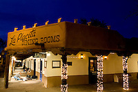 Famous Landmark of Old Town the La Placita Restaurant at night in Albuquerque New Mexico US