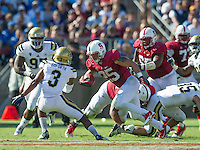 STANFORD, CA - October 19, 2013:  The Stanford Cardinal vs the UCLA Bruins at Stanford Stadium in Stanford, CA. Final score Stanford Cardinal 24, UCLA Bruins  10.