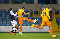 Paul Hayes of Wycombe Wanderers scores a goal to make it 1-0 during the FA Cup 2nd round match between Millwall and Wycombe Wanderers at The Den, London, England on 5 December 2015. Photo by Andy Rowland / PRiME