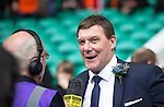 St Johnstone v Dundee United....17.05.14   William Hill Scottish Cup Final<br /> Tommy Wright is interviewed by Chic Young<br /> Picture by Graeme Hart.<br /> Copyright Perthshire Picture Agency<br /> Tel: 01738 623350  Mobile: 07990 594431