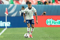 DENVER, CO - JUNE 6: DeAndre Yedlin #22 of the United States moves with the ball during a game between Mexico and USMNT at Mile High on June 6, 2021 in Denver, Colorado.