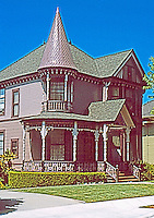 """Los Angeles: 1344 Carroll Ave., Angelino Heights. """"A pure example of Queen Anne"""".  Photo 2004."""