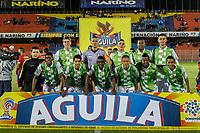 PASTO - COLOMBIA, 23-04-2018: Los jugadores de Boyacá Chicó F. C., posan para una foto, durante partido entre Deportivo Pasto y Boyacá Chicó F. C., de la fecha 17 por la Liga Aguila I 2018, jugado en el estadio Departamental Libertad de la ciudad de Pasto.  /  Boyaca Chico F. C., pose for a photo, during a match between Deportivo Pasto and Boyaca Chico F. C., of the 17th date for the Liga Aguila I 2018 at the Departamental Libertad stadium in Pasto city. Photo: VizzorImage. / Leonardo Castro / Cont.