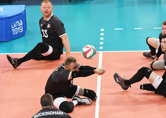 Darek Symonowics and Austin Hinchey, Lima 2019 - Sitting Volleyball // Volleyball assis.<br />