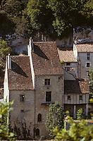 Europe/France/Midi-Pyrénées/46/Lot/Causse de Rocamadour/Rocamadour: Vieilles maisons