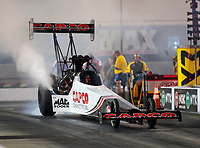 Oct 11, 2019; Concord, NC, USA; NHRA top fuel driver Steve Torrence during qualifying for the Carolina Nationals at zMax Dragway. Mandatory Credit: Mark J. Rebilas-USA TODAY Sports