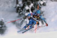 19th December 2020; Saslong, Val Gardena, Tyrol, Italy; International Ski Federation Alpine Ski World Cup, 2nd Men's Downhill, Val Gardena; Ryan Cochran-Siegle (USA)