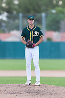 Oakland Athletics relief pitcher Bryce Nightengale (46) gets ready to deliver a pitch during an exhibition game against Team Italy at Lew Wolff Training Complex on October 3, 2018 in Mesa, Arizona. (Zachary Lucy/Four Seam Images)