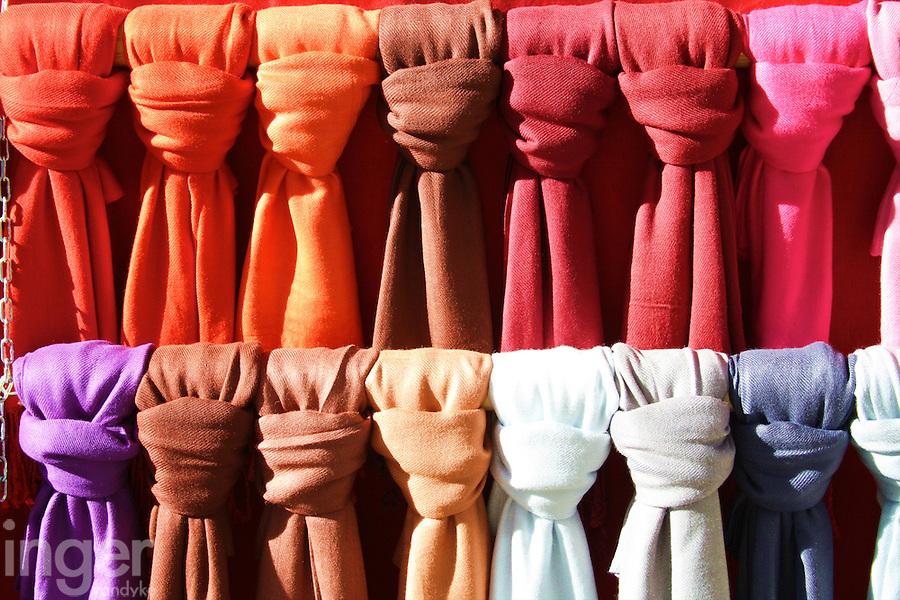 Scarves for Sale in Madrid, Spain