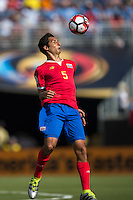 Orlando, Florida - Saturday, June 04, 2016: Costa Rican midfielder Celso Borges (5) settles a ball off his chest during a Group A Copa America Centenario match between Costa Rica and Paraguay at Camping World Stadium.