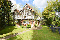 BNPS.co.uk (01202 558833)<br /> Pic:  Riverhomes/BNPS<br /> <br /> Pictured: The front of the boathouse and the garden.<br /> <br /> A striking Victorian boathouse that has been used as a film set is on the market for £2m.<br /> <br /> The time capsule building by the River Thames was used in a film version of The Wind in the Willows and the 1996 film True Blue, about the Oxford Cambridge boat race.<br /> <br /> It has an enclosed mooring as well as two moorings on the bank, perfect for those who want to spend their days messing about in boats like Ratty and Mole.
