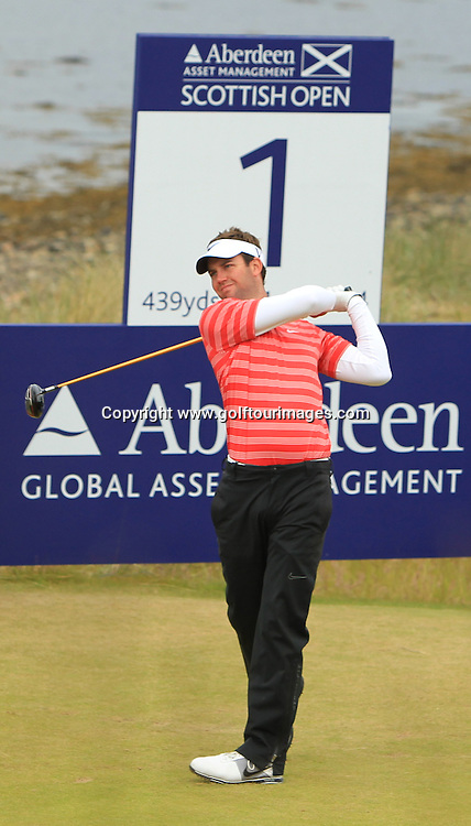Scott Jamieson during the second round of the 2012 Aberdeen Asset Management Scottish Open being played over the links at Castle Stuart, Inverness, Scotland from 12th to 14th July 2012:  Stuart Adams www.golftourimages.com:13th July 2012