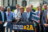 United States House Minority Whip Steve Scalise (Republican of Louisiana) offers remarks during a press conference regarding an Amicus Brief urging the Supreme Court to overturn a 110 year-old New York gun law that imposes limits on carrying weapons outside of the home, at the US Capitol in Washington, DC, Tuesday, July 20, 2021. Credit: Rod Lamkey / CNP /MediaPunch