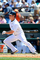 Detroit Tigers outfielder Andy Dirks #12 during a Spring Training game against the Tampa Bay Rays at Joker Marchant Stadium on March 29, 2013 in Lakeland, Florida.  (Mike Janes/Four Seam Images)