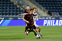 Chester, PA - Friday December 08, 2017: Drew Skundrich, Manuel Cordeiro The Stanford Cardinal defeated the Akron Zips 2-0 during an NCAA Men's College Cup semifinal match at Talen Energy Stadium.