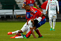 MANIZALES -COLOMBIA, 20-05-2017. Acción de juego entre los equipos Once Caldas y Deportivo Pasto  durante encuentro  por la fecha 19 de la Liga Aguila I 2017 disputado en el estadio Palogrande./Action game between Once Caldas and Deportivo Pasto   during match for the date 19 of the Aguila League I 2017 played at Palogrande stadium . Photo:VizzorImage / Santiago Osorio  / Contribuidor
