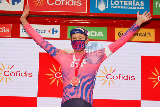 Magnus Cort Nielsen (DEN) EF Pro Cycling wins Stage 16 of the Vuelta Espana 2020, running 160km from Salamanca to Ciudad Rodrigo, Spain. 6th November 2020. <br /> Picture: Luis Angel Gomez/PhotoSportGomez   Cyclefile<br /> <br /> All photos usage must carry mandatory copyright credit (© Cyclefile   Luis Angel Gomez/PhotoSportGomez)
