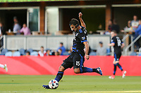 San Jose, CA - Wednesday June 28, 2017: Andres Imperiale during a U.S. Open Cup Round of 16 match between the San Jose Earthquakes and the Seattle Sounders FC at Avaya Stadium.