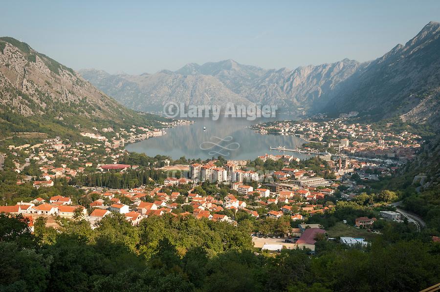 Kotor at the head of the Bay of Kotor -- Boka Kotorska--along the road up to Lovcen